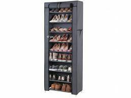 Meuble à chaussures - 27 paires de chaussures - 58x160x28 cm - gris