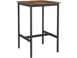 Bartable, Table de cuisine haute, style industriel, brun vintage/noir