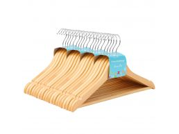 Cintres - pour enfants - crochet rotatif - 20 pièces - érable de haute qualité - brun naturel