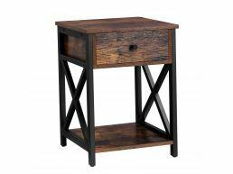 Table de chevet - avec tiroir - 40x53x40 cm - brun vintage
