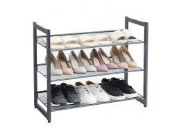 Range-chaussures - robuste - réglable - 74x62,8x30,7 cm - gris