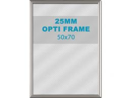 Cadre clic-clac opti - 25 mm - 50 x 70 cm - gris argenté