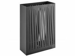 Bac à parapluie métallique design - rectangulaire - noir