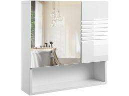 Armoire avec miroir - 55x54 cm - blanc