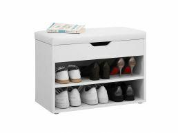 Banc à chaussures - avec siège - 60x44x30 cm - blanc