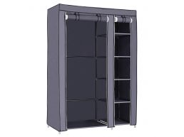 Armoire XL - pliable - tissu - 110x175x45 cm - gris