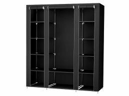 Armoire - pliable - 150x175x45 cm - noir