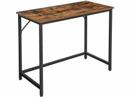 Bureau - petit - aspect industriel - 100x75x50 cm - brun vintage