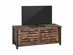 Meuble TV - avec 2 portes coulissantes - 110x45x40 cm - brun vintage