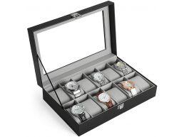 Deuxième chance - Coffret pour montres - 12 montres - noir