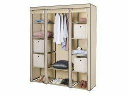 Armoire - pliable - 150x175x45 cm - beige