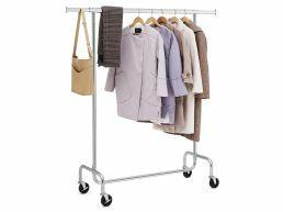 Porte-vêtements XXL - réglable - 110x160x45 cm - gris argenté