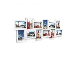 Cadre multi-photo - pour 12 cadres de 10x15 cm - blanc