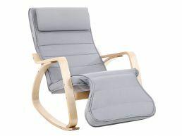 Chaise à bascule - 5 positions réglables - non électrique - jusqu'à 150 kg - gris