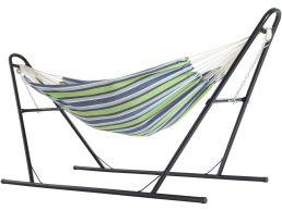 Hamac - avec support - 210x250 cm - multicolore
