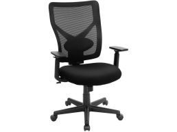 Chaise de bureau - accoudoir et dossier réglables - noir