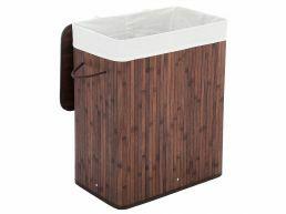 Panier à linge - 1 compartiment de 100 litres - 52x63x32 cm - brun foncé