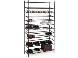 Meuble à chaussures - XXL - métal - 60x105x37 cm - noir
