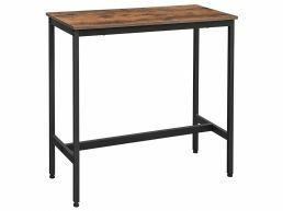 Deuxième chance - Petite table de bar - look industriel - 100x90x40 cm - brun vintage