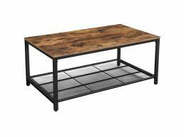 Table basse - avec grille en maille fine - 106x45x60 cm - brun vintage