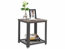 Table d'appoint carré - 45x55x45 cm - gris clair