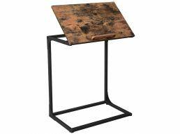 Table d'appoint - surface réglable - style industriel - 55x66x35 cm - brun vintage