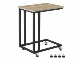 Table d'appoint - avec roues - 50x60x35 cm - chêne clair