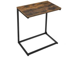 Table d'appoint - look industriel - 55x66x35 cm - brun vintage