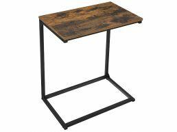 Deuxième chance - Table d'appoint - look industriel - 55x66x35 cm - brun vintage
