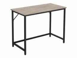 Bureau - petit - aspect industriel - 100x75x50 cm - gris clair