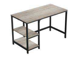 Bureau vintage - robuste - 120x75x60 cm - gris clair