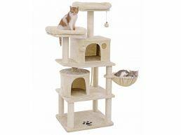 Arbre à chat - avec maisons et paniers - 51x152x61 cm - beige