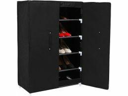 Meubles à chaussures - 2 portes - 61x89x28 cm - noir