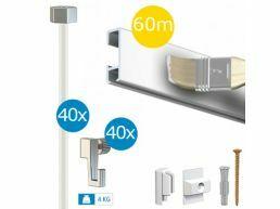 Artiteq - tableau budget - paquet click rail 60 m - blanc