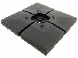 Deuxième chance - Base plastique - pour parasol déporté - 4 parties - 80 kg - noir