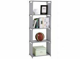 Bibliothèque - 4 compartiments - 50x147x30 cm - gris