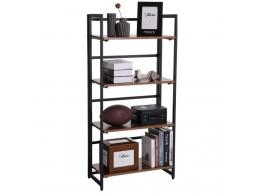Deuxième chance - Bibliothèque - look vintage - pliable - 60x125,5x30 cm - vintage brun