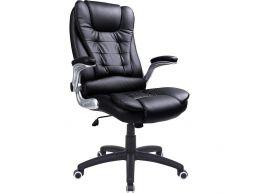 Chaise de bureau luxueuse - ergonomique - pivotante - noir