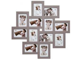 Deknudt - cadre pèle-mêle 12 photos - 10 x 15 cm - taupe