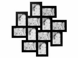 Deknudt - cadre pèle-mêle 12 photos - 10 x 15 cm - noir