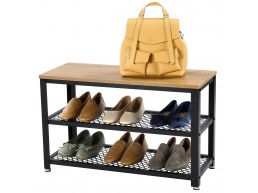 Meuble à chaussures - 73x45x30 cm - marron miel