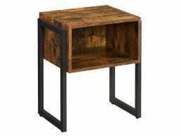 Table de chevet - 44x52x35 cm - brun vintage
