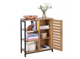 Bibliothèque - look industriel - 70x81x30 cm - brun miel