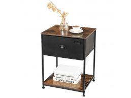 Table de chevet - avec tiroir - 48x63x40 cm - brun/vintage