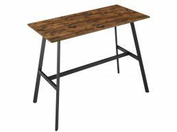 Table de bar mi-haut - aspect industriel - 120x91,5x60 cm - brun vintage