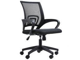 Chaise de bureau - accoudoirs larges - réglable en hauteur - noir