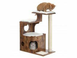 Arbre à chat - pour 1 ou plusieurs chats - 66x88x42 cm - brun vintage