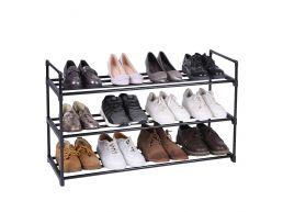 Meuble à chaussures - empilable - 92x54x30 cm - noir