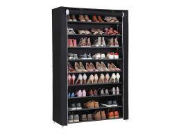 Deuxième chance - Meuble à chaussures - XXL - 54 paires de chaussures - 100x162x28 cm - noir