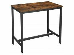 Table haute de bar - 120x105x60 cm - vintage brun